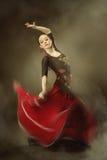 dancingowi flamenco kobiety potomstwa fotografia stock