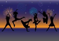Dancingowi ludzie Fotografia Royalty Free