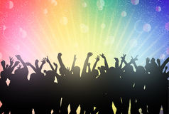Dancingowi ludzie sylwetek Zdjęcie Stock