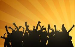 Dancingowi ludzie sylwetek Fotografia Royalty Free