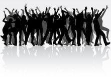 Dancingowi ludzie sylwetek Obrazy Stock