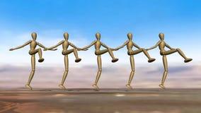 Dancingowi Manikins ilustracji