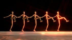 Dancingowi Manikins ilustracja wektor