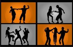 dancingowi partyjni ludzie ilustracja wektor