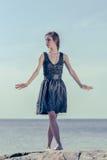 dancingowi plenerowi portreta kobiety potomstwa Zdjęcia Royalty Free