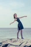 dancingowi plenerowi portreta kobiety potomstwa Fotografia Stock