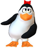 dancingowy żeński pingwin ilustracja wektor