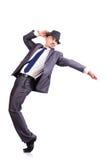 Dancingowy biznesmen Zdjęcie Stock