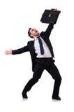 Dancingowy biznesmen odizolowywający Obraz Stock