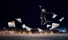 Dancingowy bizneswoman Obrazy Stock