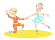 dancingowy dziadek ilustracja wektor