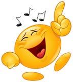 Dancingowy emoticon Zdjęcie Royalty Free