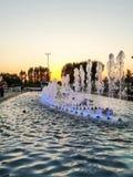 Dancingowy fontain Zdjęcie Royalty Free