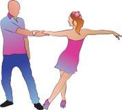 Dancingowy mężczyzna i kobieta Obrazy Stock