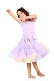 dancingowy mały princess zdjęcie royalty free