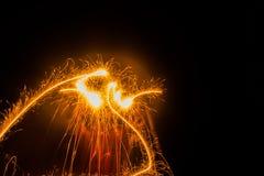 Dancingowy ogień Obraz Stock