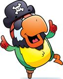 dancingowy papuzi pirat Obrazy Royalty Free