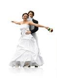 dancingowy para ślub Zdjęcia Stock