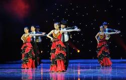 Dancingowy partner ---Hiszpański Krajowy taniec Zdjęcia Royalty Free