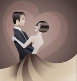 Dancingowy pary art deco geometryczny stylowy plakat Fotografia Stock