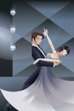 Dancingowy pary art deco geometryczny stylowy plakat Zdjęcie Royalty Free