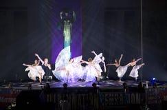 Dancingowy przedstawienie przy stanu Teksas Uczciwą nocą 2017 Obrazy Royalty Free