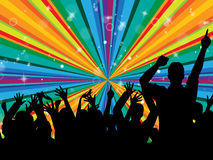 Dancingowy Rozochocony I dyskoteka Wskazujemy promieniowanie promień ilustracji