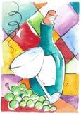 dancingowy szkło zdjęcie stock