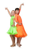 dancingowych dekoracyjnych projekt dziewczyn graficzny ilustracyjny wektor Zdjęcia Stock