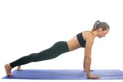 Dandasana di Chaturanga Yoga Asana immagine stock