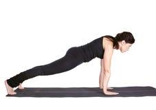 Dandasana excercising do chaturanga do urdhva da ioga fotos de stock