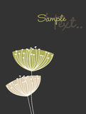 Dandelion. Vector Illustration of Dandelions with place for text Stock Photos