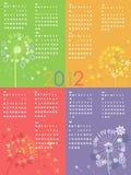 Dandelion calendar 2012. Colorful dandelion calendar 2012 year Stock Image