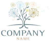 Dandelion drzewa logo Zdjęcia Royalty Free