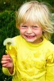 dandelion dziewczyna zdjęcia stock