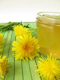 Dandelion flower jam Stock Photography