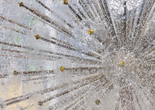 Dandelion fountain. Abstract  water background Stock Photo