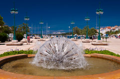 Dandelion fountain and seaside at Mali Losinj Stock Image