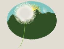 Dandelion góra Zdjęcia Stock