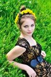 Dandelion girl Royalty Free Stock Photo