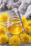 Dandelion honey in a jar Royalty Free Stock Photography