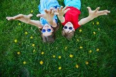 Dandelion kids Royalty Free Stock Photo