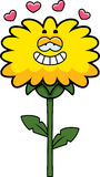 Dandelion in Love. A cartoon illustration of a dandelion with an in love expression vector illustration
