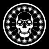 Dandelion man skull Royalty Free Stock Photography