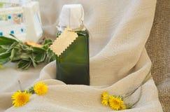 Dandelion oil Stock Images