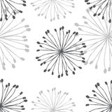 Dandelion Pattern. Great design dandelion pattern, hand draw, style retro Stock Image