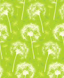 Dandelion Repeater Pattern Background. This is a Dandelion Pattern that repeats like wallpaper. It is in a modern green color scheme designed to signify spring stock illustration