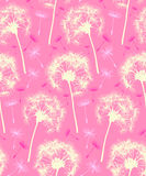 Dandelion Repeater Pattern Background Pink. This is a Dandelion Pattern that repeats like wallpaper. It is in a modern pink color scheme designed to signify stock illustration