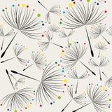 Dandelion seamless background Stock Photos