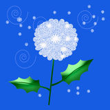 Dandelion seed. Dandelion weed seeds floating on the wind illustration Royalty Free Stock Images